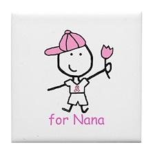 Pink Ribbon - Nana2 Tile Coaster
