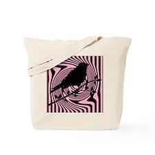 Black Bird Pink Tote Bag