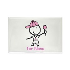 Pink Ribbon - Nana2 Rectangle Magnet