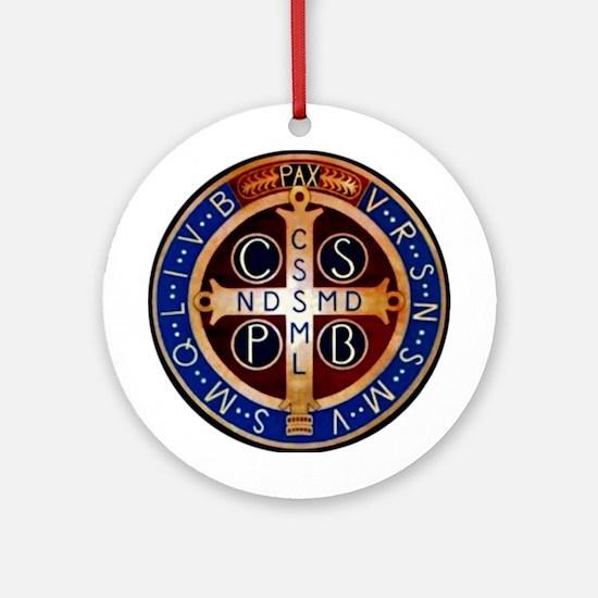 Benedictine Medal Ornament (Round)