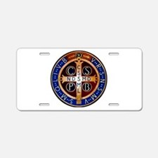 Benedictine Medal Aluminum License Plate