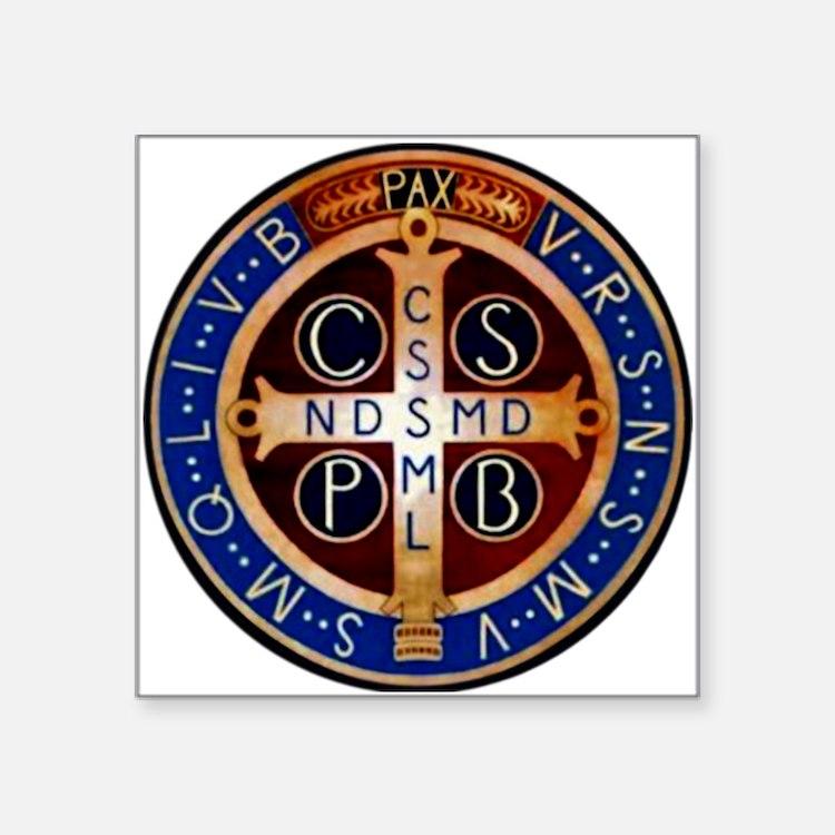 Benedictine Medal Sticker
