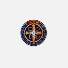 Benedictine Medal Mini Button