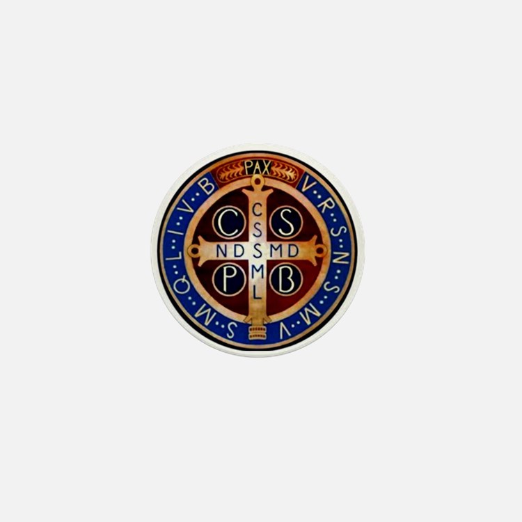 Benedictine Medal Mini Button