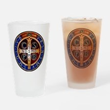 Benedictine Medal Drinking Glass