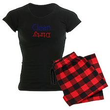 Clean Dirty Dishwasher Red B Pajamas
