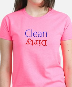 Clean Dirty Dishwasher Red Blue T-Shirt