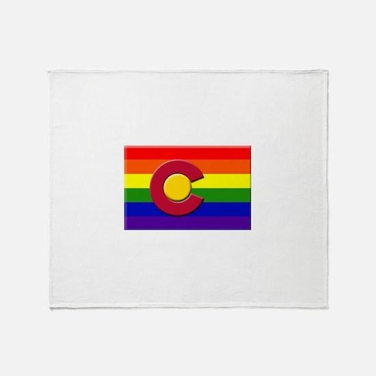 Pride in Colorado Throw Blanket