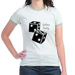 Lucky Dice Jr. Ringer T-Shirt - black dice