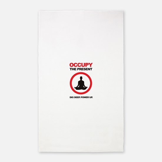 Occupy the Present 3'x5' Area Rug
