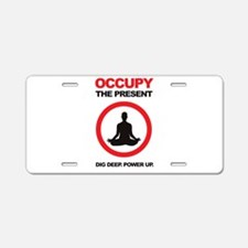 Occupy the Present Aluminum License Plate