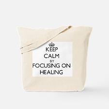 Keep Calm by focusing on Healing Tote Bag