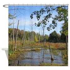 Swamp Scenery Shower Curtain