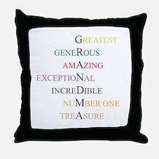 GRANDMA Throw Pillow