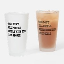 Gods Don't Kill People Atheism Drinking Glass