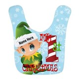 First christmas Fleece Bibs