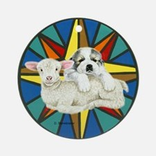 Great Pyrenees Pup and Lamb Ornament