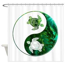 YN Turtle-03 Shower Curtain