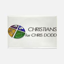 Christians for Chris Dodd Rectangle Magnet