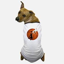 Slam Dunk Basketball Player w/Hoop on Dog T-Shirt