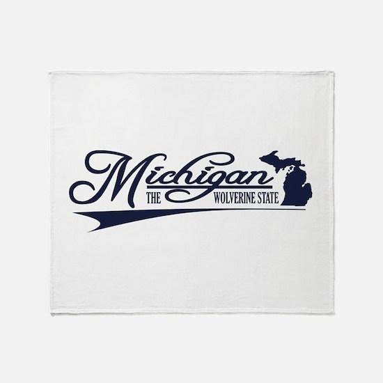 Michigan State of Mine Throw Blanket