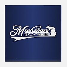 Michigan State of Mine Tile Coaster
