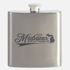 Michigan State of Mine Flask