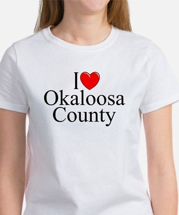 """I Love Okaloosa County"" Women's T-Shirt"