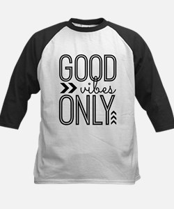 Good Vibes Only Kids Baseball Jersey