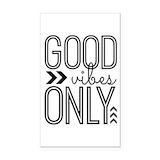 "Good vibes 3"" x 5"""