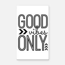 Good Vibes Only Rectangle Car Magnet