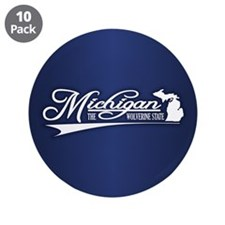 """Michigan State of Mine 3.5"""" Button (10 pack)"""