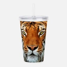 Tiger in Water Photogr Acrylic Double-wall Tumbler