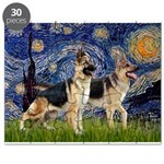 Starry Night - Two German Shepherds.png Puzzle