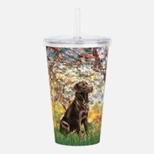 Spring - Chocolate Lab 11.png Acrylic Double-wall