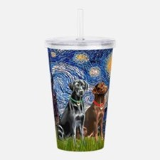 Starry Night - Two Labradors (Chocolate and.png Ac