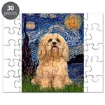 Lhasa Apso 9 - Starry Night (Vert).png Puzzle