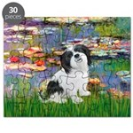 Lhasa Apso 2 - Lilies 2.png Puzzle