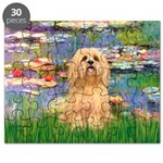 Lhasa Apso 9 - Lilies 2.png Puzzle
