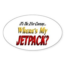 Where's My Jetpack? Oval Decal