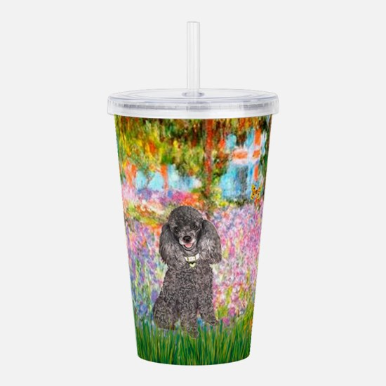 Poodle (8S) - Garden.png Acrylic Double-wall Tumbl