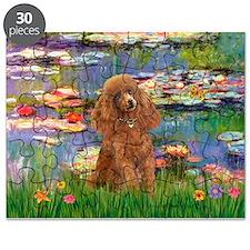 Poodle (Apricot 10) - Lilies 2.png Puzzle