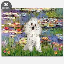5.5x7.5-Lilies2-Poodle-Wht7.png Puzzle