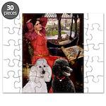 Lady..2 Poodles (ST) Puzzle