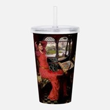LADY-Pug-Blk14.png Acrylic Double-wall Tumbler