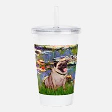 MP-LILIES2-Pug1.png Acrylic Double-wall Tumbler