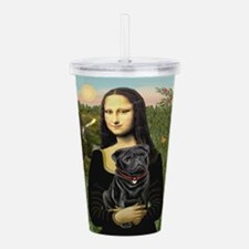 MONA-Pug-Blk-new-C-red.png Acrylic Double-wall Tum