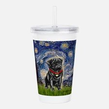 MP-STARRY-Pug-Blk14.png Acrylic Double-wall Tumble