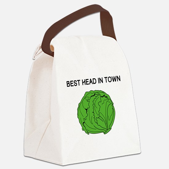 Best Head In Town Canvas Lunch Bag