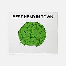 Best Head In Town Throw Blanket